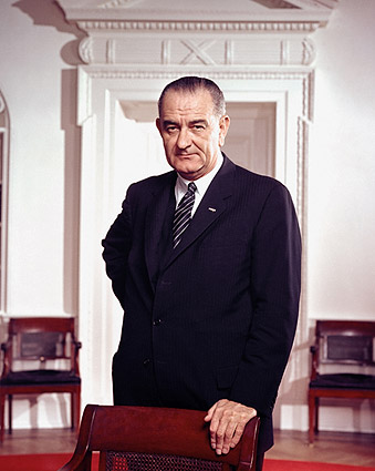 President Lyndon B. Johnson Standing Portrait Photo Print
