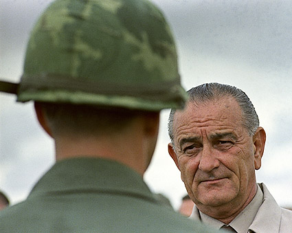 President Lyndon B. Johnson Visits Vietnam Photo Print