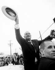 President Lyndon Johnson 1964 Campaign Stop Photo Print