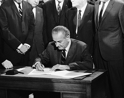President Lyndon Johnson Civil Rights Bill Photo Print
