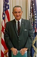President Lyndon Johnson Color Photo Print for Sale