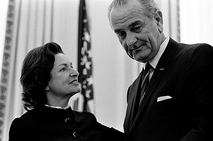 President Lyndon Johnson & Lady Bird Photo Print