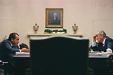 President Lyndon Johnson & Richard Nixon Photo Print for Sale