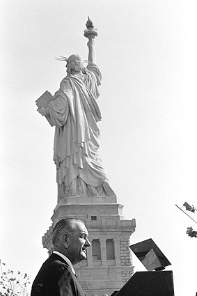 President Lyndon Johnson Statue of Liberty Photo Print