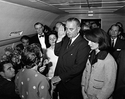 President Lyndon Johnson Swearing In Photo Print