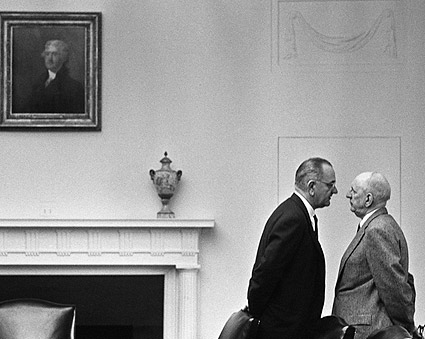 President Lyndon Johnson with Senator Richard Russell Photo Print