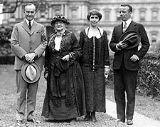 President & Mrs. Coolidge, Mother Jones, & Roosevelt Photo Print for Sale