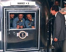 President Nixon Apollo 11 Crew Hornet Photo Print for Sale