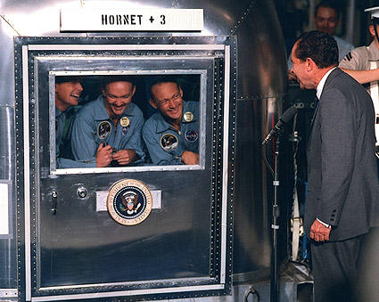 President Nixon Apollo 11 Crew Hornet Photo Print
