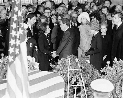President Nixon at Lyndon Johnson Funeral Photo Print