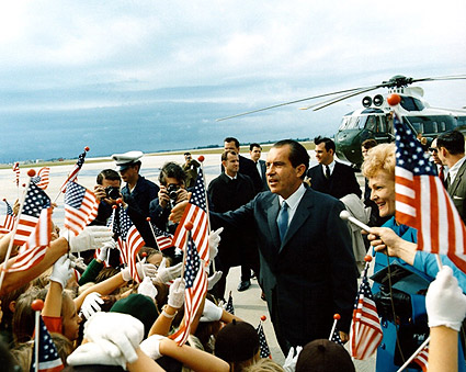 President Nixon Greeting the Public Photo Print
