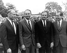President Nixon w/ Apollo 11 Crew Photo Print for Sale