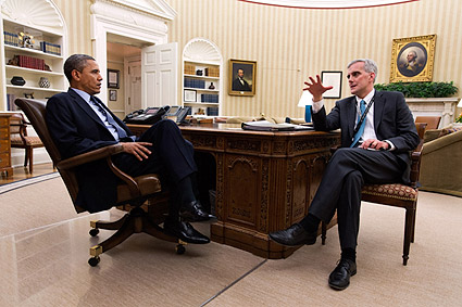 President Obama and Chief of Staff Denis McDonough  Photo Print