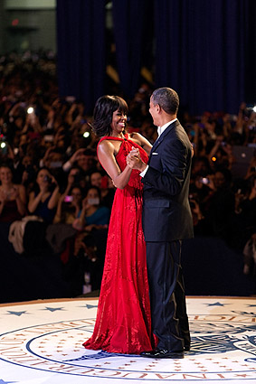 President Obama and First Lady at Inaugural Ball 2013 Photo Print