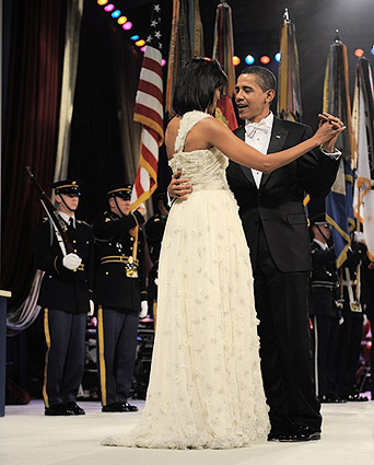 President Obama and First Lady Michelle at Inaugural Ball Photo Print