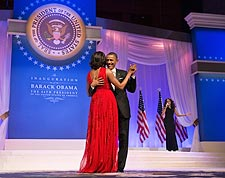 President Obama and Michelle Dance at Inaugural Ball 2013 Photo Print for Sale