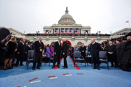 President Obama and VP Joe Biden at Inauguration 2013 Photo Print