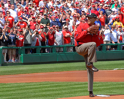 President Obama 'First Pitch' for Washington Nationals Photo Print