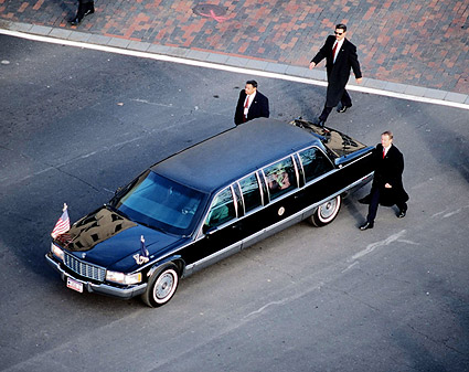 President Obama's Limousine at Inauguration 2009 Photo Print
