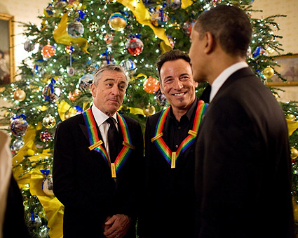 President Obama, Springsteen and DeNiro at White House Photo Print