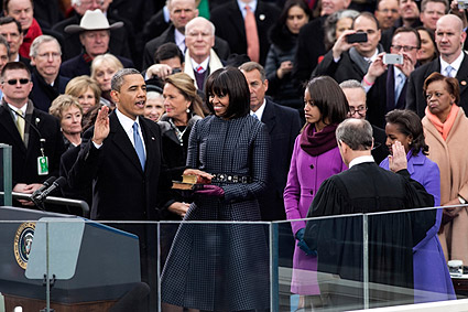 President Obama Takes Oath of Office 2013 Photo Print