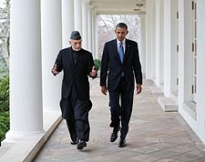 President Obama with Afghan President Karzai Photo Print for Sale