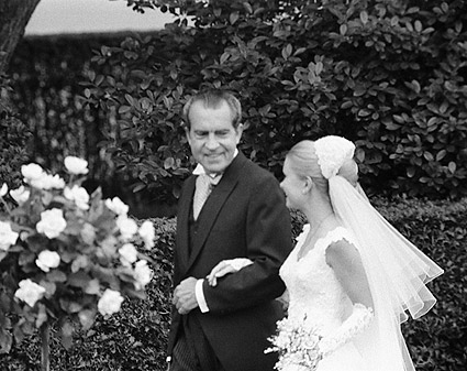 President Richard Nixon & Tricia at Wedding Photo Print