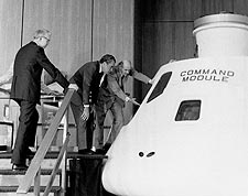 President Richard Nixon Views Command Module Photo Print for Sale