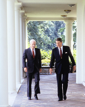 President Ronald Reagan & John McCain Photo Print