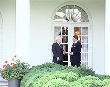 President Ronald Reagan & Sen. John McCain Photo Print for Sale