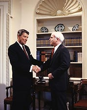 President Ronald Reagan w/ John McCain Photo Print for Sale