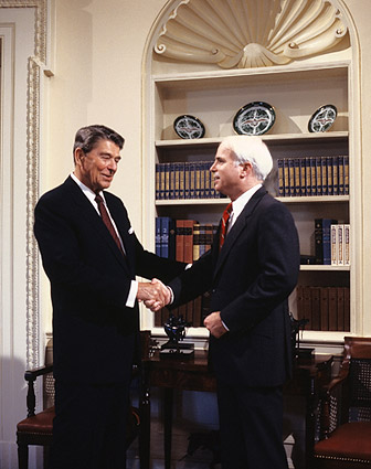 President Ronald Reagan w/ John McCain Photo Print