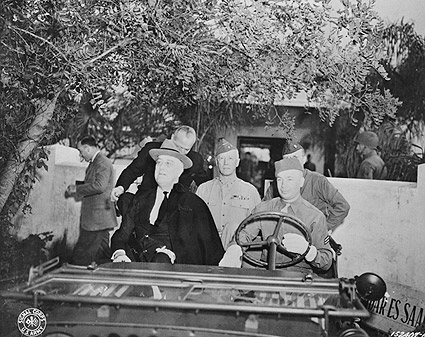 President Roosevelt & US Troops, Casablanca Photo Print