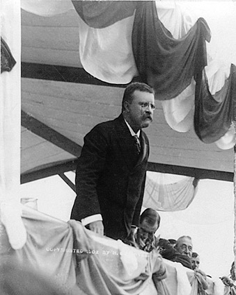 President Theodore Roosevelt Giving Speech Photo Print