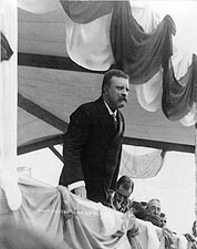 President Theodore Roosevelt Giving Speech Photo Print for Sale