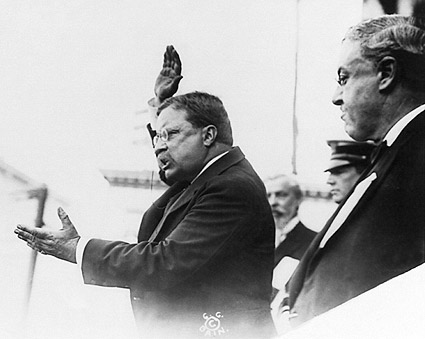 President Theodore Roosevelt in Yonkers, NY Photo Print