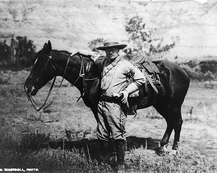 President Theodore Roosevelt w/ Horse, 1910 Photo Print