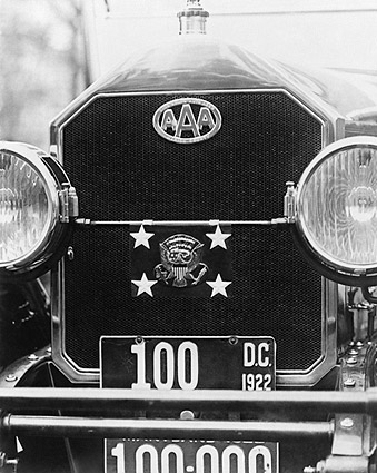 President Warren G. Harding Car w/ AAA Logo Photo Print