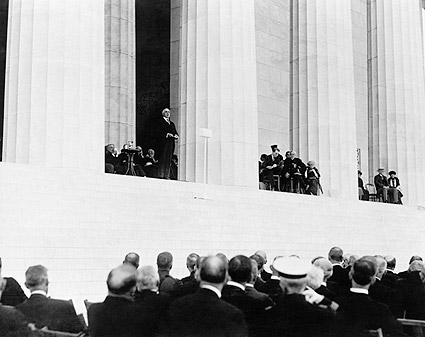 President Warren Harding, Lincoln Memorial Photo Print