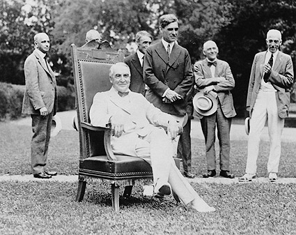 President Warren Harding, White House Lawn Photo Print