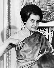 Prime Minister Indira Gandhi of India 1966 Photo Print for Sale
