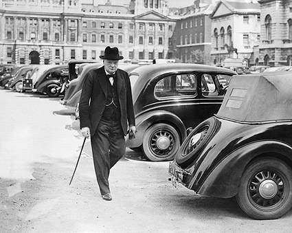Prime Minister Winston Churchill Candid Photo Print
