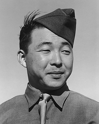 Private Kato WWII Manzanar Ansel Adams Photo Print