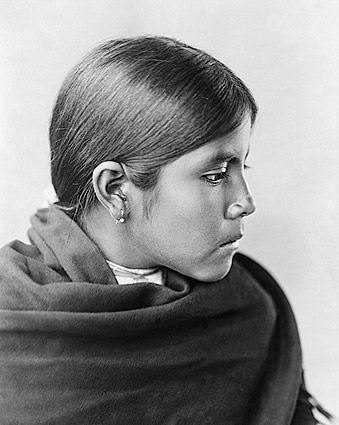 Qahatika Indian Girl Edward S. Curtis 1907 Photo Print