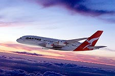 Qantas Airlines Airbus A380-800 in Flight Photo Print for Sale