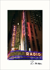 Radio City Music Hall Personalized Christmas Cards