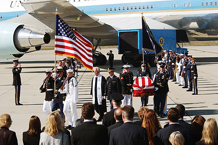 Reagan Funeral Honor Guard Departs Aircraft Photo Print
