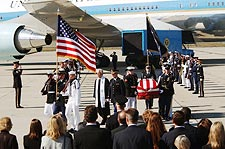 Reagan Funeral Honor Guard Departs Aircraft Photo Print for Sale