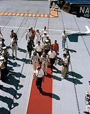Red Carpet Welcome for Gemini 5 Crew Photo Print for Sale