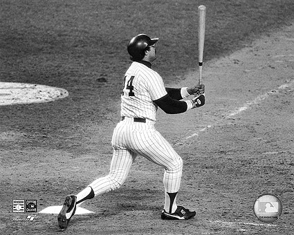 Reggie Jackson NY Yankees 1977 World Series Photo Print